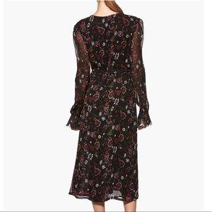 PAIGE Dresses - LILOU MIDI DRESS - BLACK PAINTED CHINTZ FLORAL